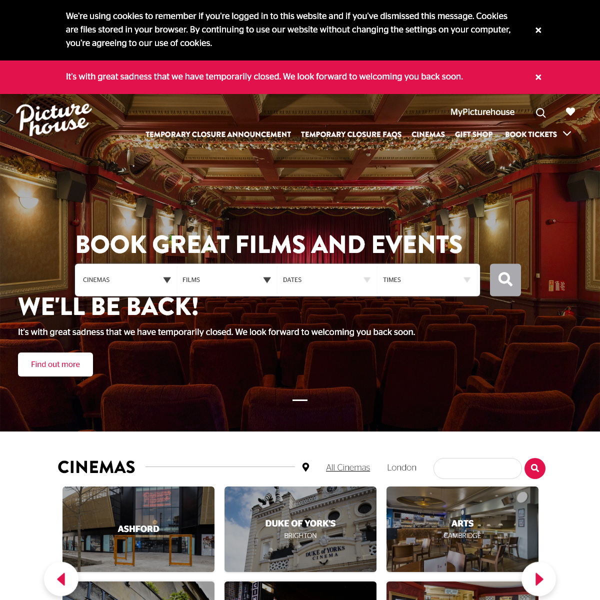 Picturehouse Cinemas - Book Now For The Best Films And Events