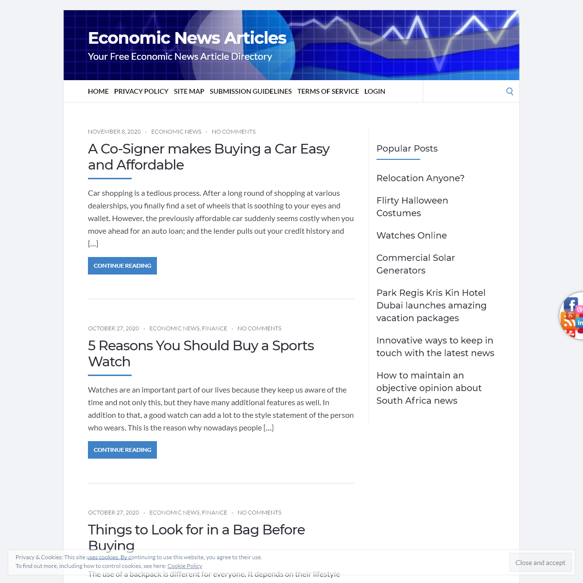 Economic News Articles – Your Free Economic News Article Directory