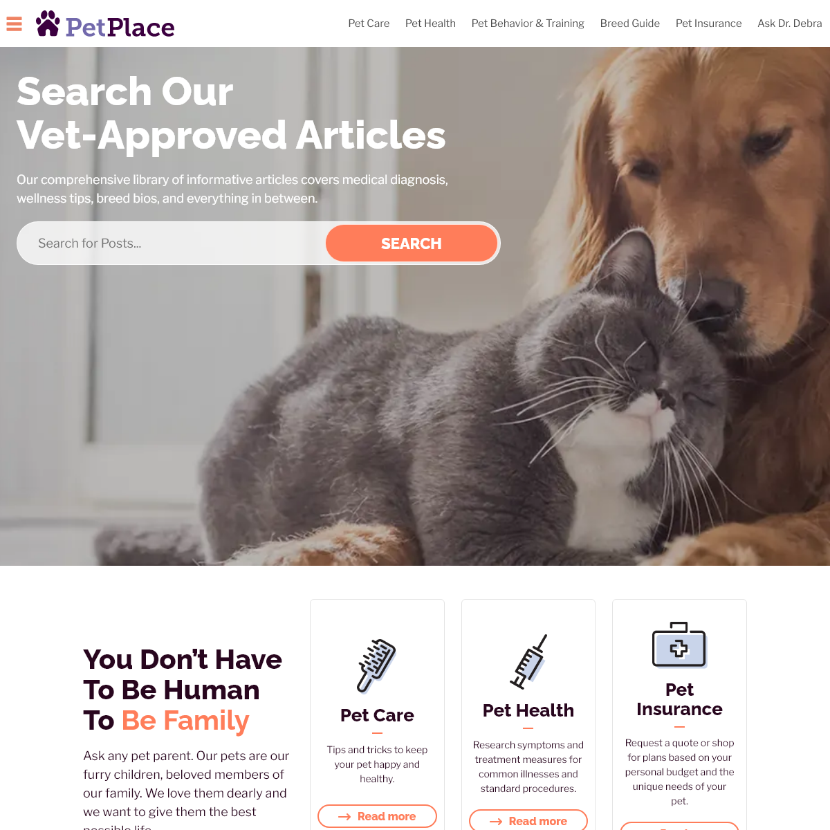 PetPlace- The Web`s #1 Source of Pet Information