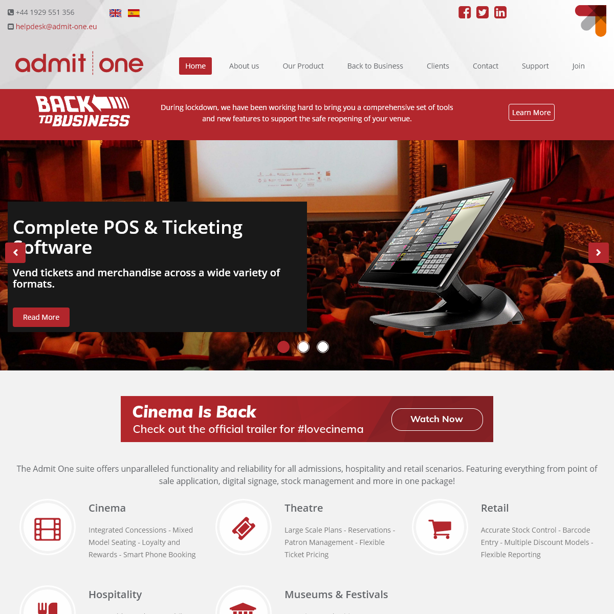 Home - Admit One - Advanced Ticketing Systems