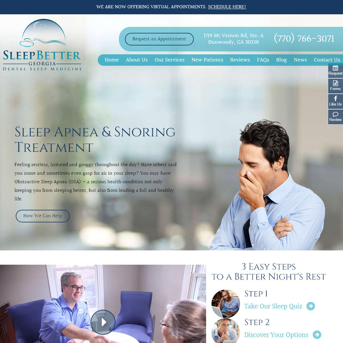 Dunwoody Sleep Apnea Therapy - Dental Sleep Medicine Norcross - Sleep Better Georgia