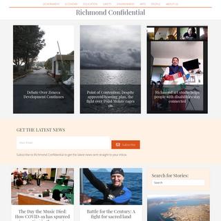 Home - Landing Page - Richmond Confidential