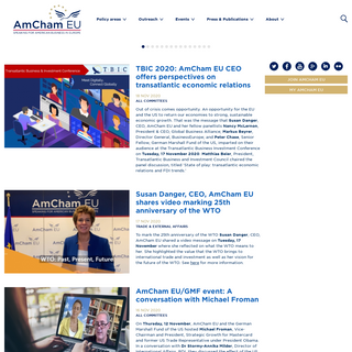 AmCham EU - American Chamber of Commerce to the European UnionSpeaking for American business in Europe