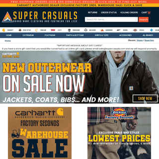 Super Casuals ~ Brand Name Work Clothing and Footwear For Less