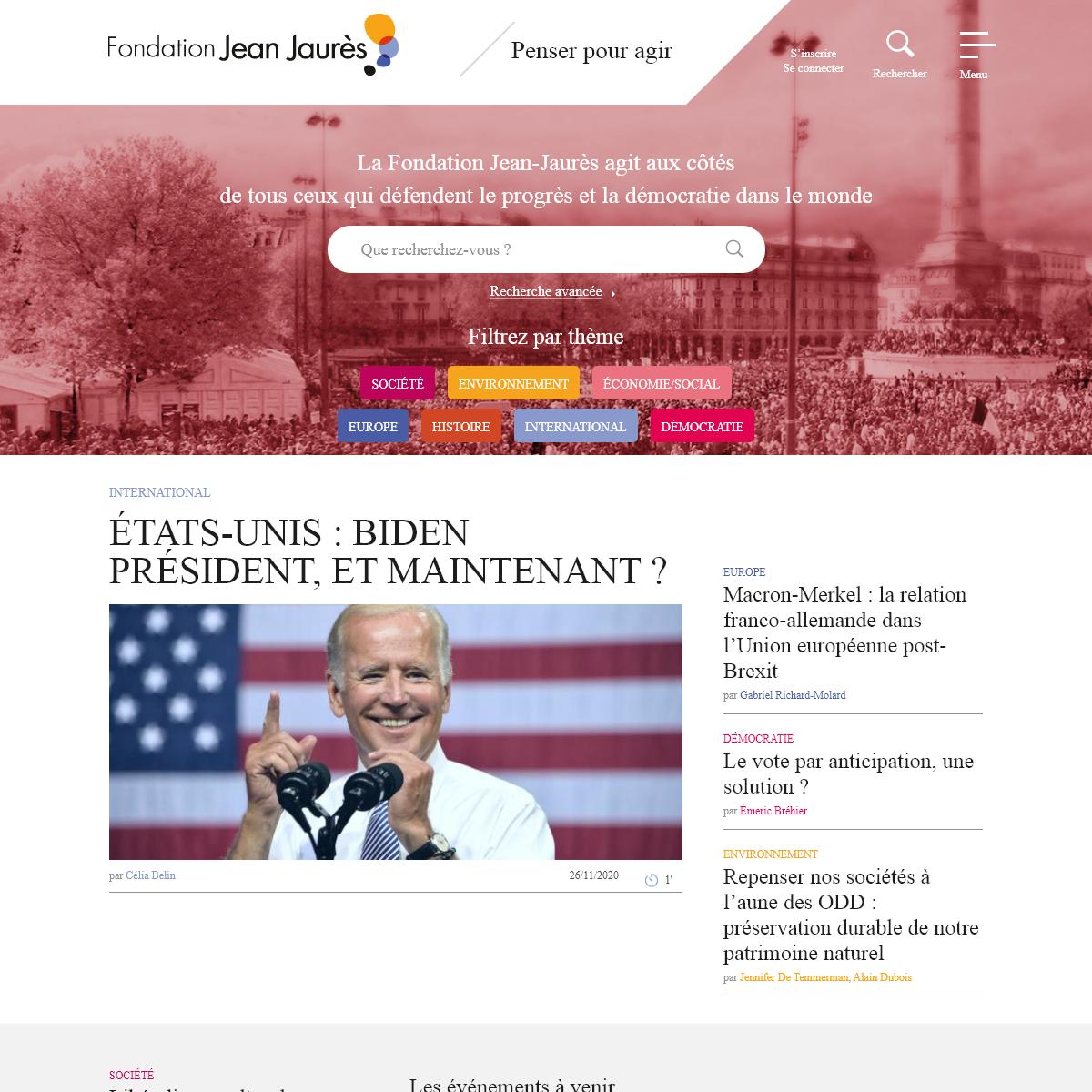 Fondation Jean-Jaurès - Accueil
