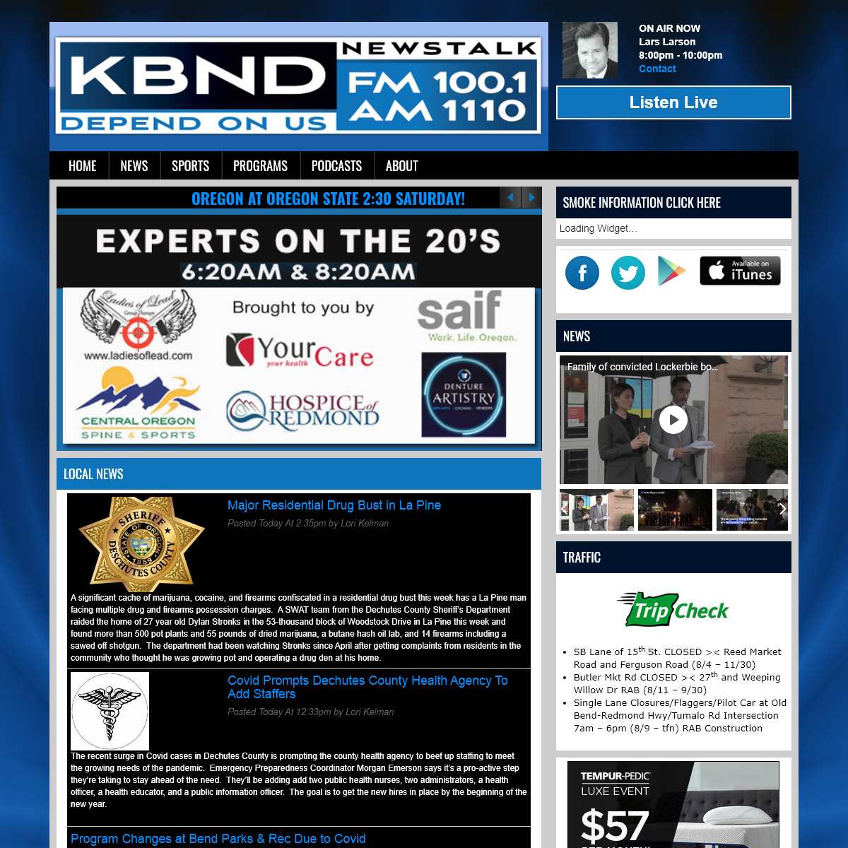 FM News 100.1 and 1110 AM KBND