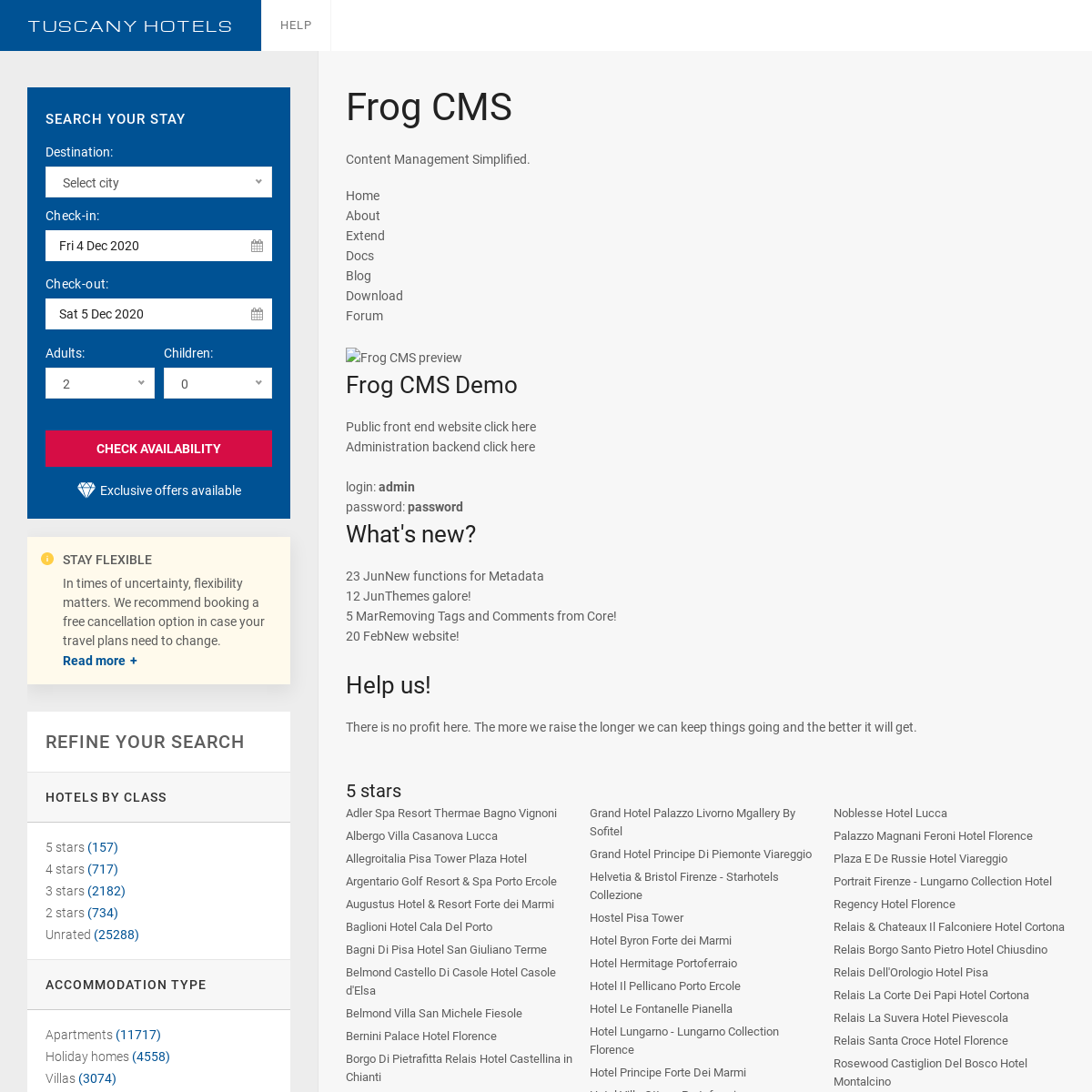 Frog CMS - Content Management Simplified - Frog CMS