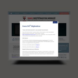 Kamu SM - Kamu Sertifikasyon Merkezi - Elektronik Sertifika Hizmet Sağlayıcısı ve E-imza Uygulamaları