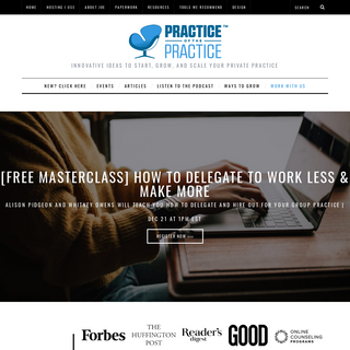 How to Start, Grow, and Scale a Private Practice- Practice of the Practice