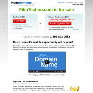 HugeDomains.com - FilmTechno.com is for sale (Film Techno)