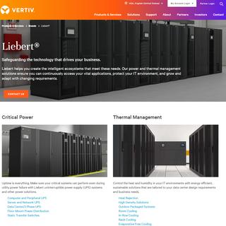 Liebert Thermal and Power Systems - Vertiv Brands