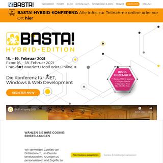 BASTA! 2021 - Konferenz für .NET, Windows & Web Development