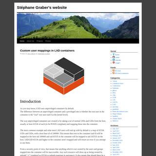 Stéphane Graber`s website