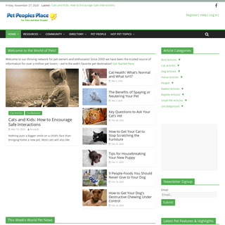 Pet Care Information, Resources & Supplies – PetPeoplesPlace.com