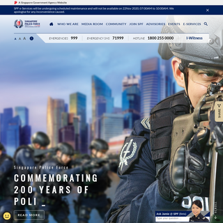 Singapore Police Force (SPF) - Home