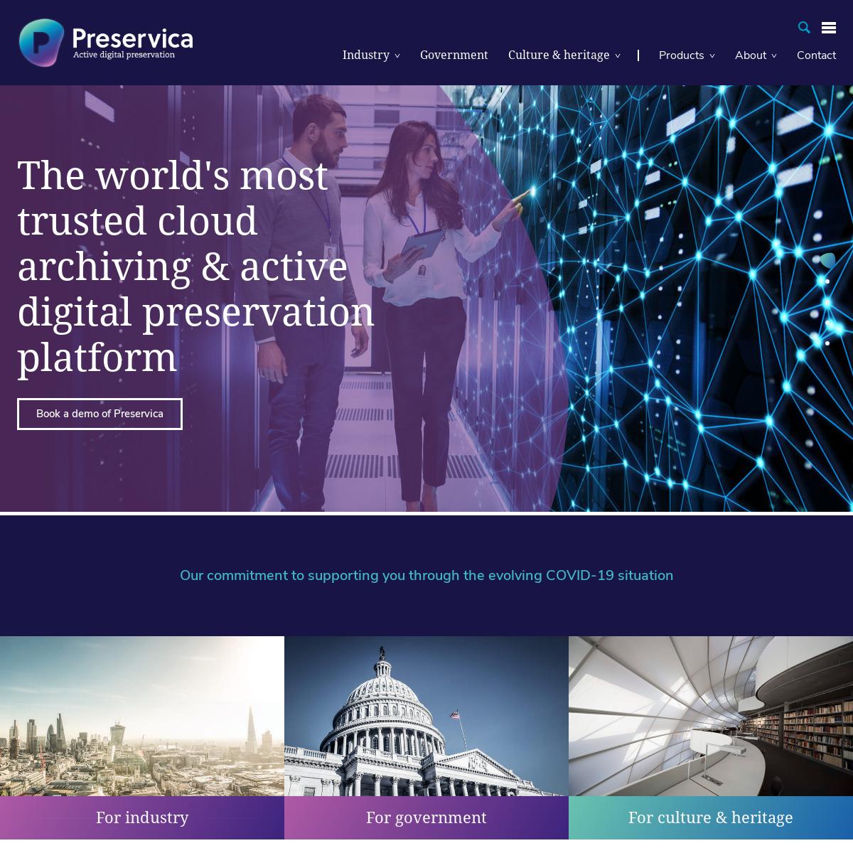 Secure Digital Preservation, Archiving & Storage Software - Preservica