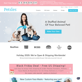 Custom Stuffed Animals of Pets, Quality Promise - Petsies