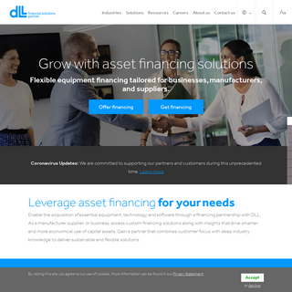 DLL - Global financial solutions partner to manufacturers, distributors and dealers.