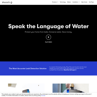 Phyn - Water Leak Detector - Water Usage Monitoring System