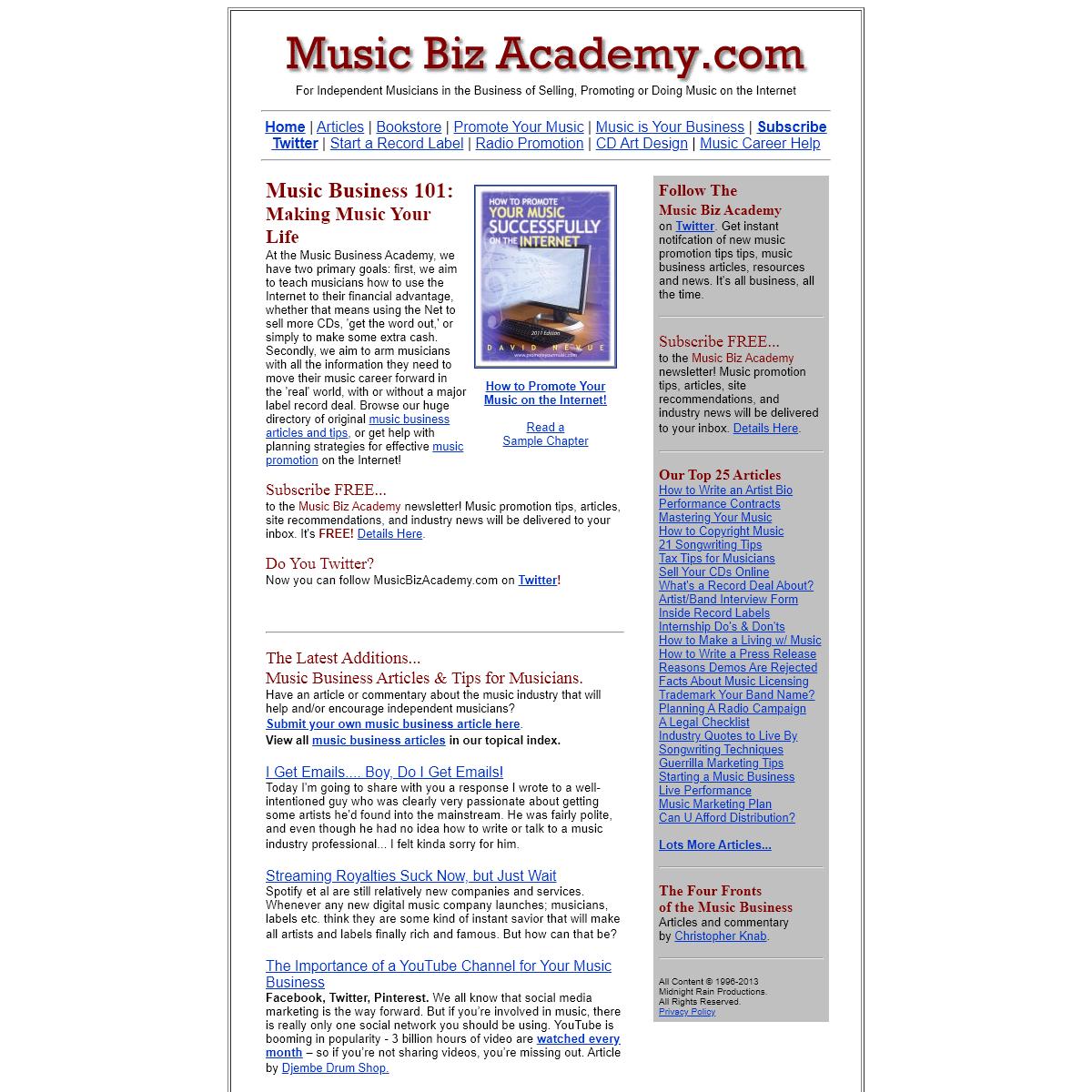 The Music Biz Academy- Music Business 101