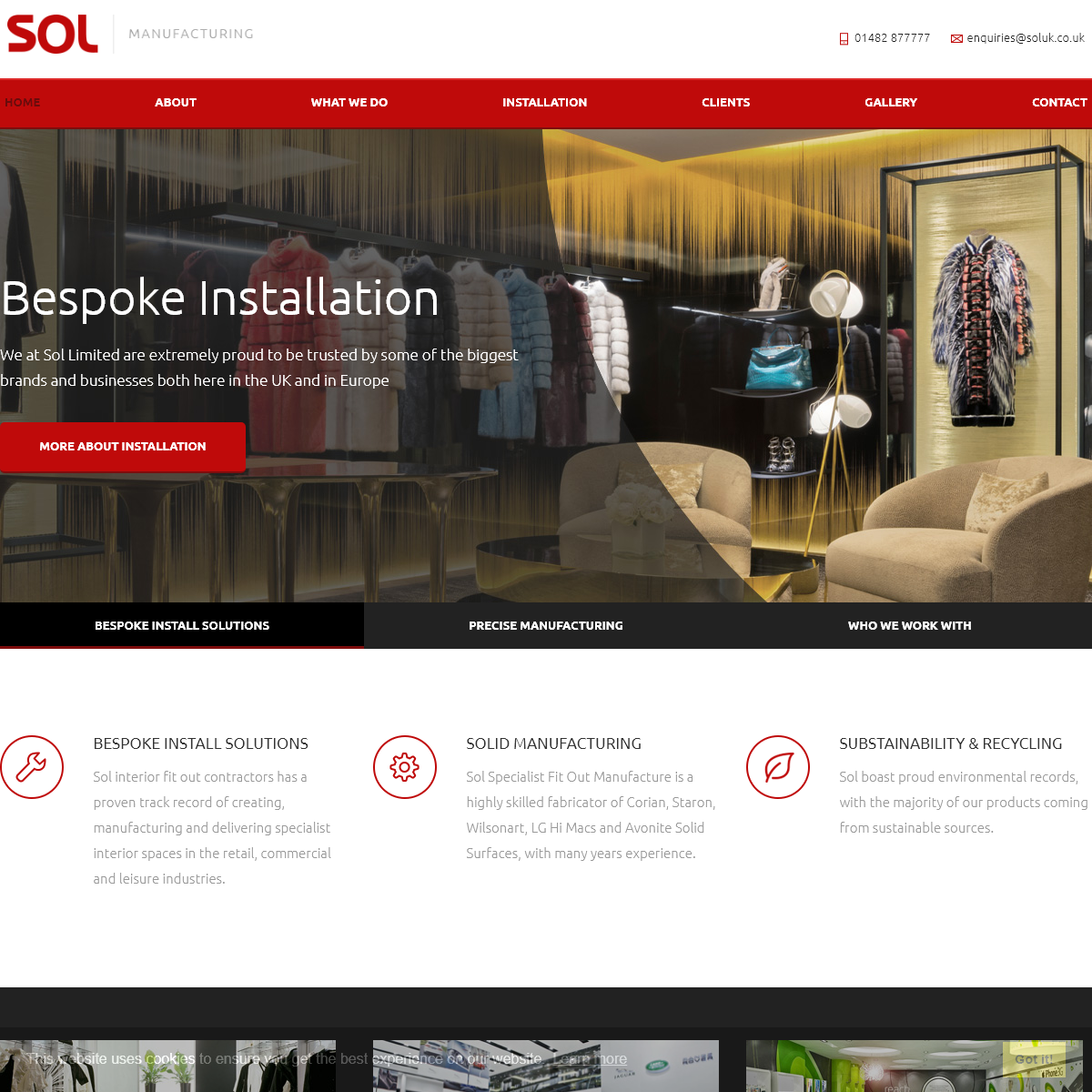 Interior fit out contractors - SOL UK
