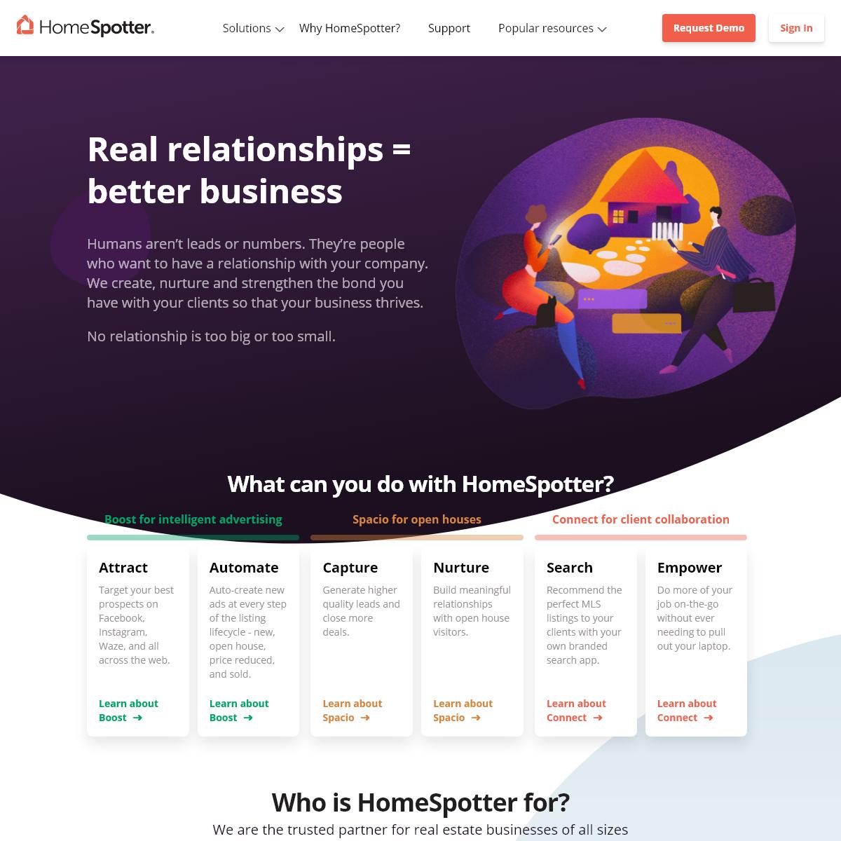 HomeSpotter - Real Estate`s Relationship Engine