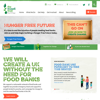 The Trussell Trust - Stop UK Hunger