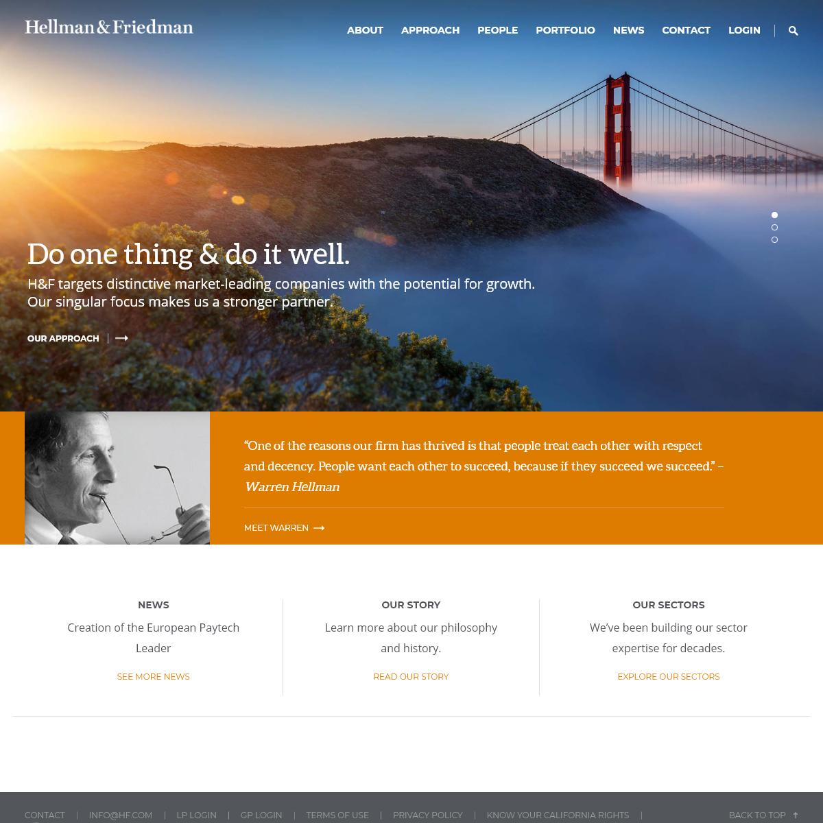 Hellman & Friedman Private Equity San Francisco-New York-London