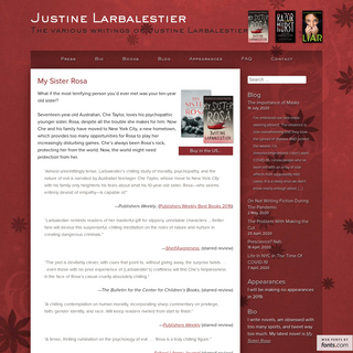 Home - Justine Larbalestier - The various writings of Justine Larbalestier