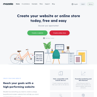 Mozello - the easiest way to create a website, blog or online store!