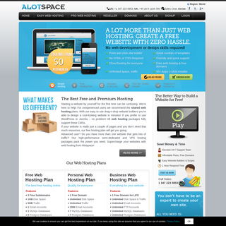 Free Hosting From Alotspace - A LOT more hosting. ZERO hassle.
