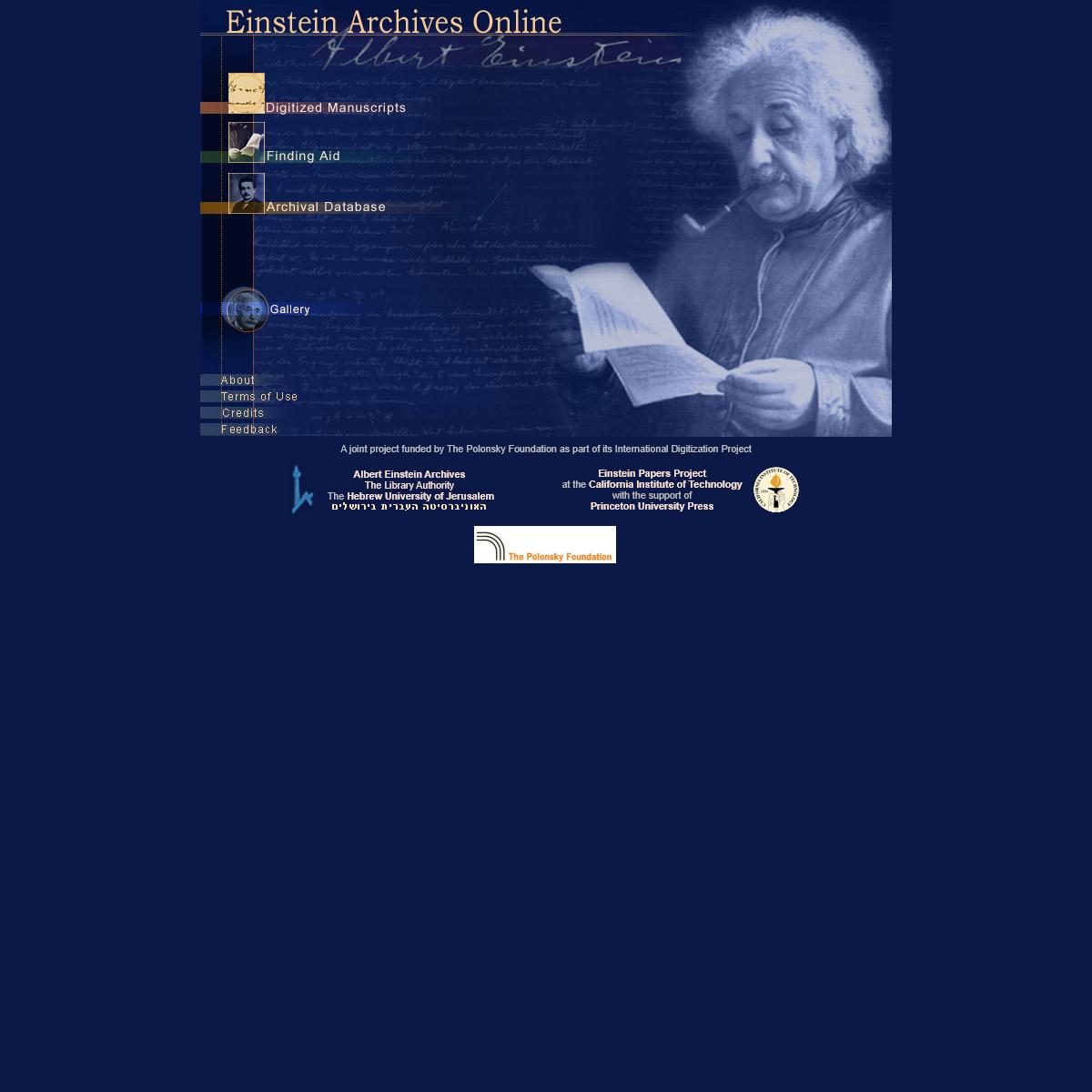 Einstein Archives Online