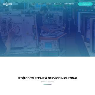 TV Repair & Service In Chennai - LED TV Services