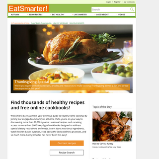 80,000 Healthy Recipes and Articles on Living Healthy!