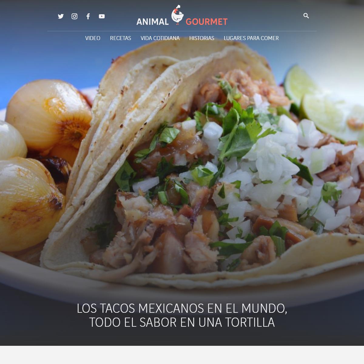 Animal Gourmet - Comer, beber y saberlo hacer