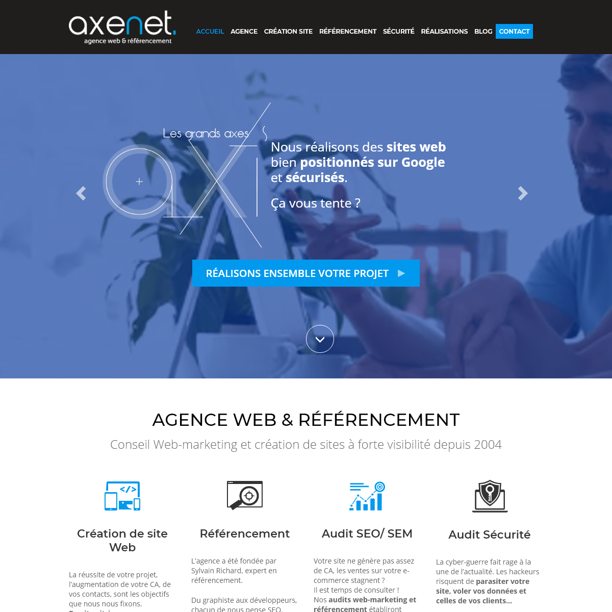 Création site internet à Cergy Pontoise - agence web AXENET
