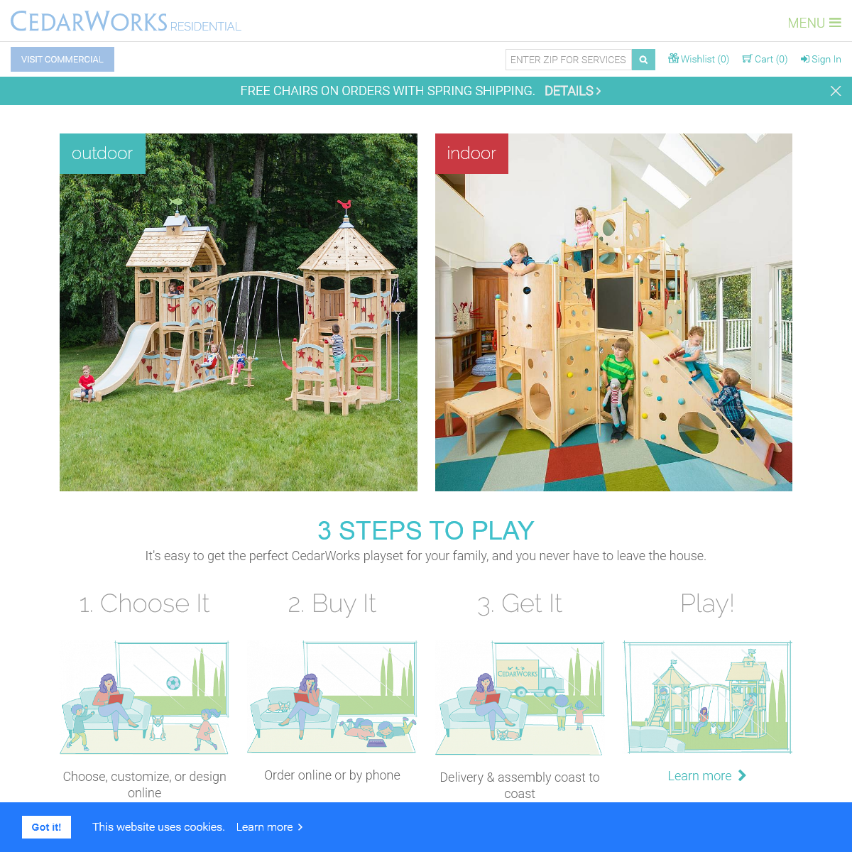 Swing Sets, Playsets, Playhouses, Indoor Playsets and Playbeds - CedarWorks Playsets
