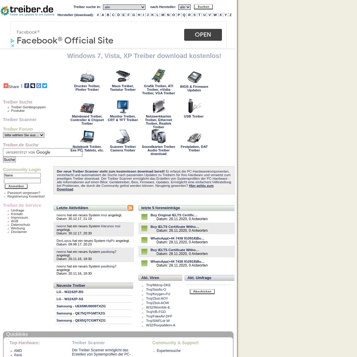 treiber.de - Treiber download und Updates für alle Systeme