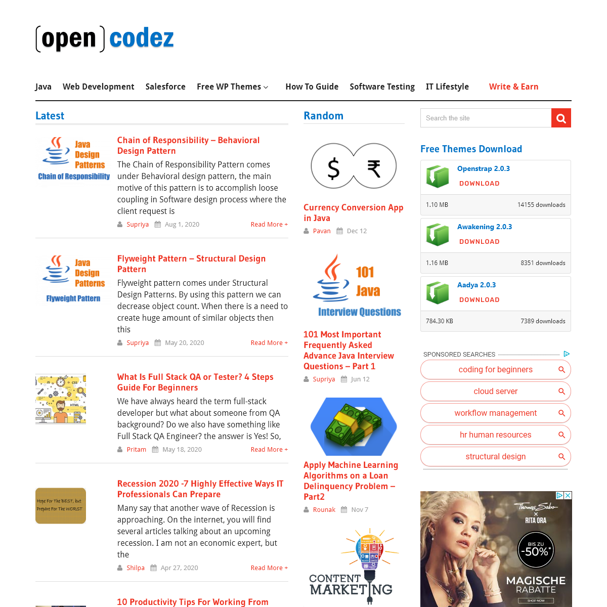 opencodez - develope - share - reuse