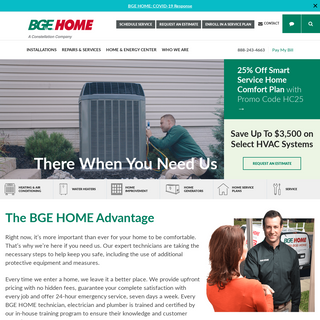 BGE HOME- Air Conditioning, Heating, Plumbing & Electrical Services