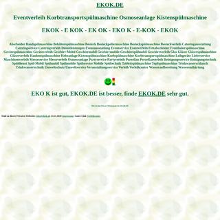 ekok Eventverleih Korbtransportspülmaschine Osmoseanlage Kistenspülmaschine Spülmobil Verleih Geschirrmobil Mieten