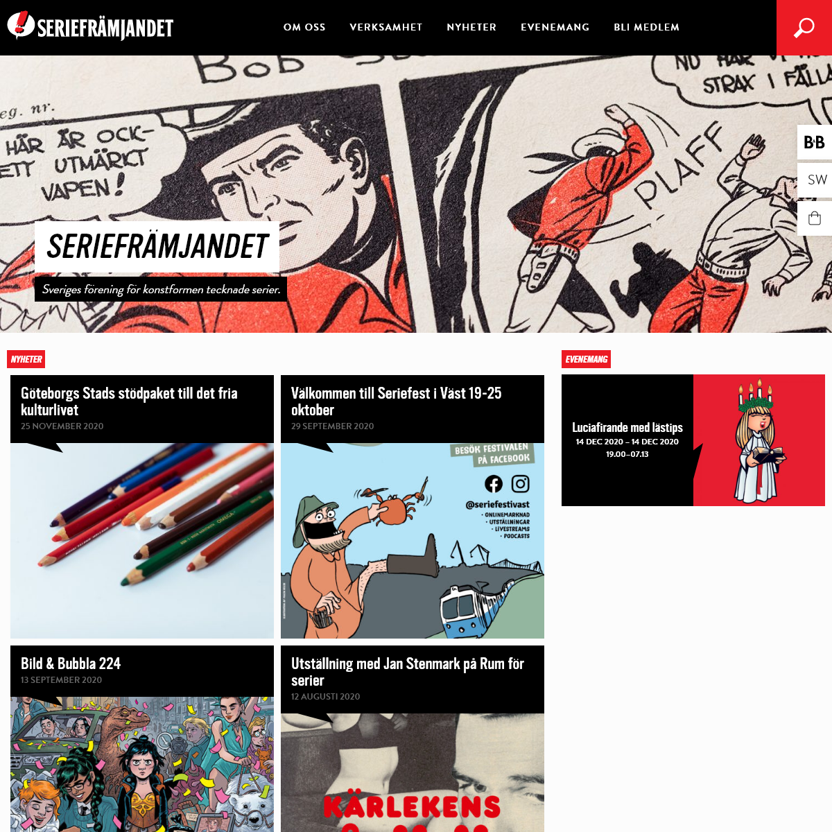 Seriefrämjandet – Sveriges företrädare för tecknade serier