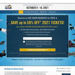 Wings Over Houston 2021 - Houston Airshow - Ellington - Thunderbirds