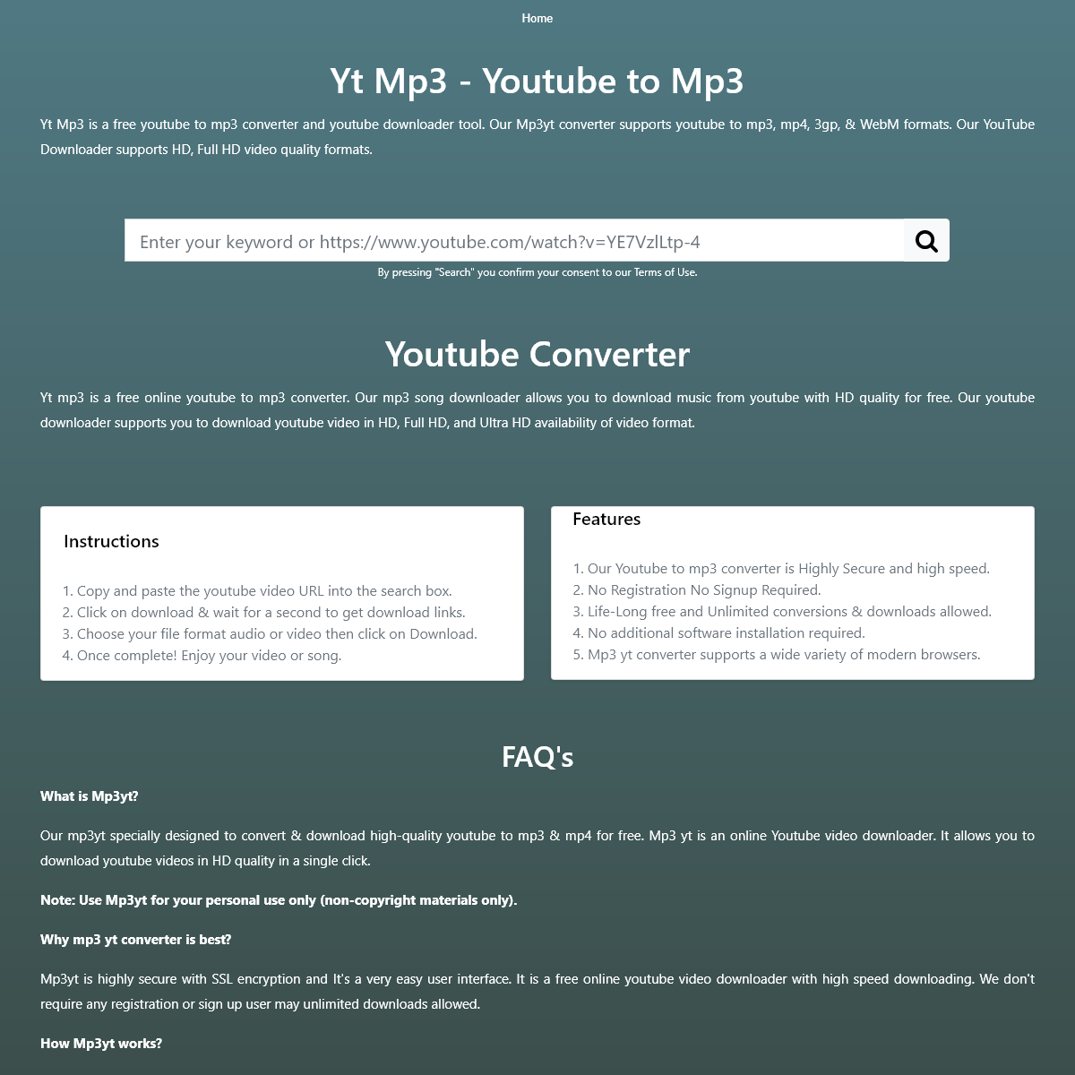 Yt Mp3 - Youtube to Mp3 Converter - Youtube Downloader