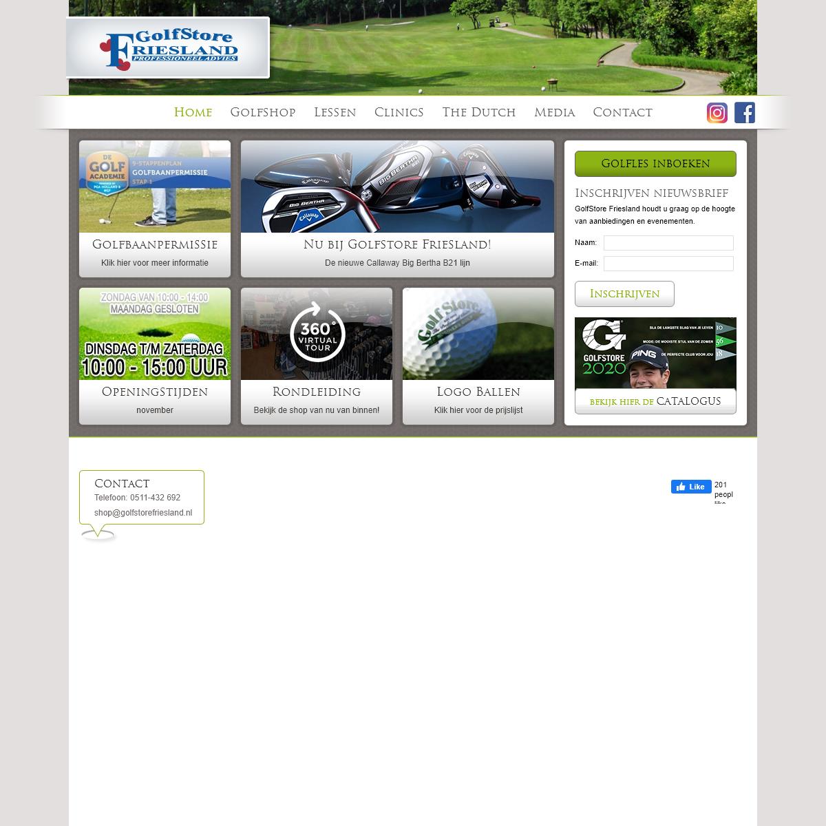 GolfStore Friesland - Home