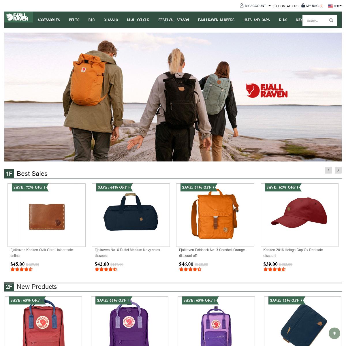 Fjallraven Kanken Outlet - Official Fjallraven Kanken Backpack Outlet Store