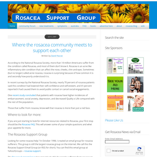 Rosacea Support Group • Where the rosacea community meets online - Rosacea Support Group