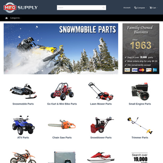 Snowmobile Parts, Go Kart Parts, Lawnmower Parts, ATV Parts, and more - MFG Supply