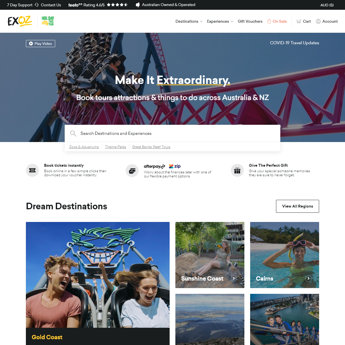Tours and Attractions Australia & New Zealand - Experience Oz