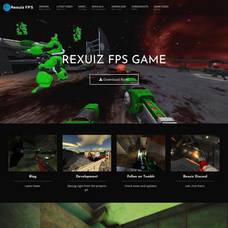 Rexuiz FPS - free online multiplayer first person arena shooter